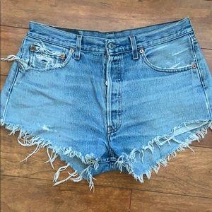 Levi's 501 cutoff shorts